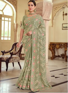 Embroidered Reception Bollywood Saree