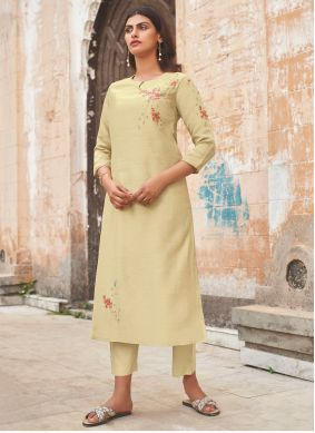 Embroidered Silk Party Wear Kurti