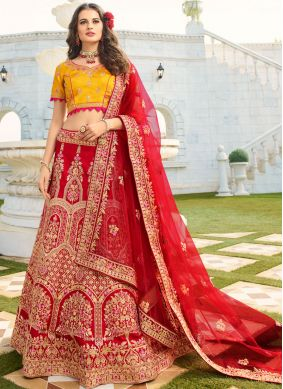 Embroidered Trendy A Line Lehenga Choli