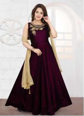 Embroidered Velvet Salwar Suit