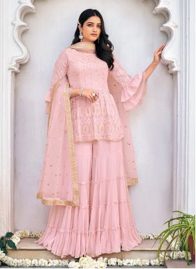 Embroidered Viscose Readymade Suit