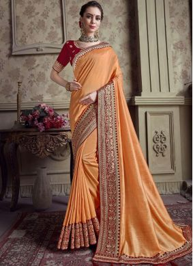 Enchanting Embroidered Festival Designer Saree