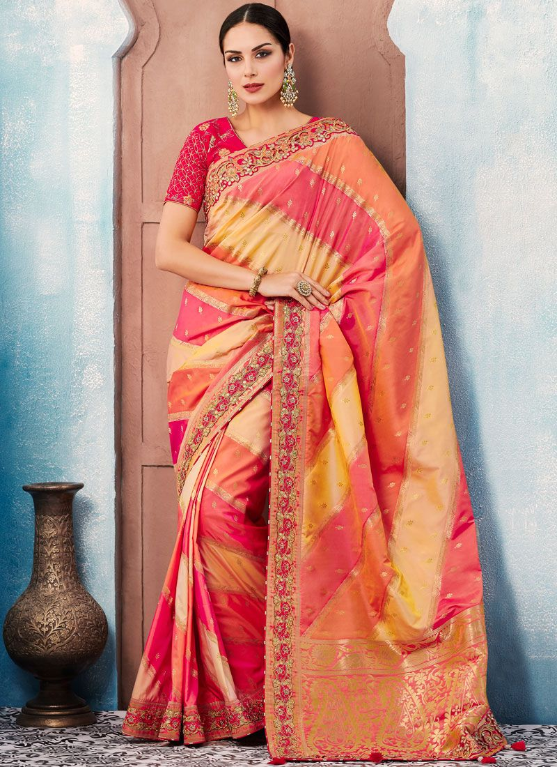 Enchanting Tafeta silk Wedding Designer Saree