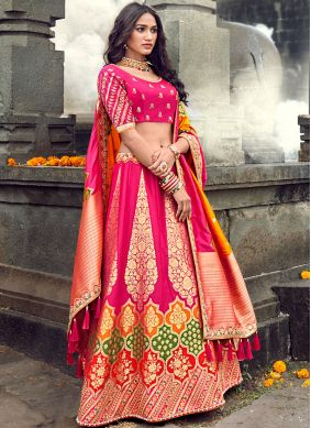 Energetic Art Silk Wedding Designer Lehenga Choli
