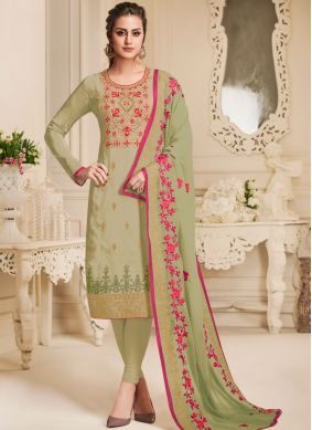 Energetic Green Churidar Designer Suit