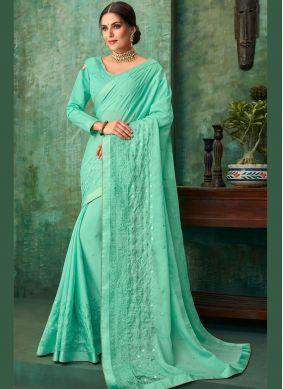 Engrossing Faux Georgette Traditional Saree
