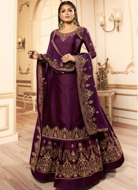 Enthralling Embroidered Drashti Dhami Lehenga Choli