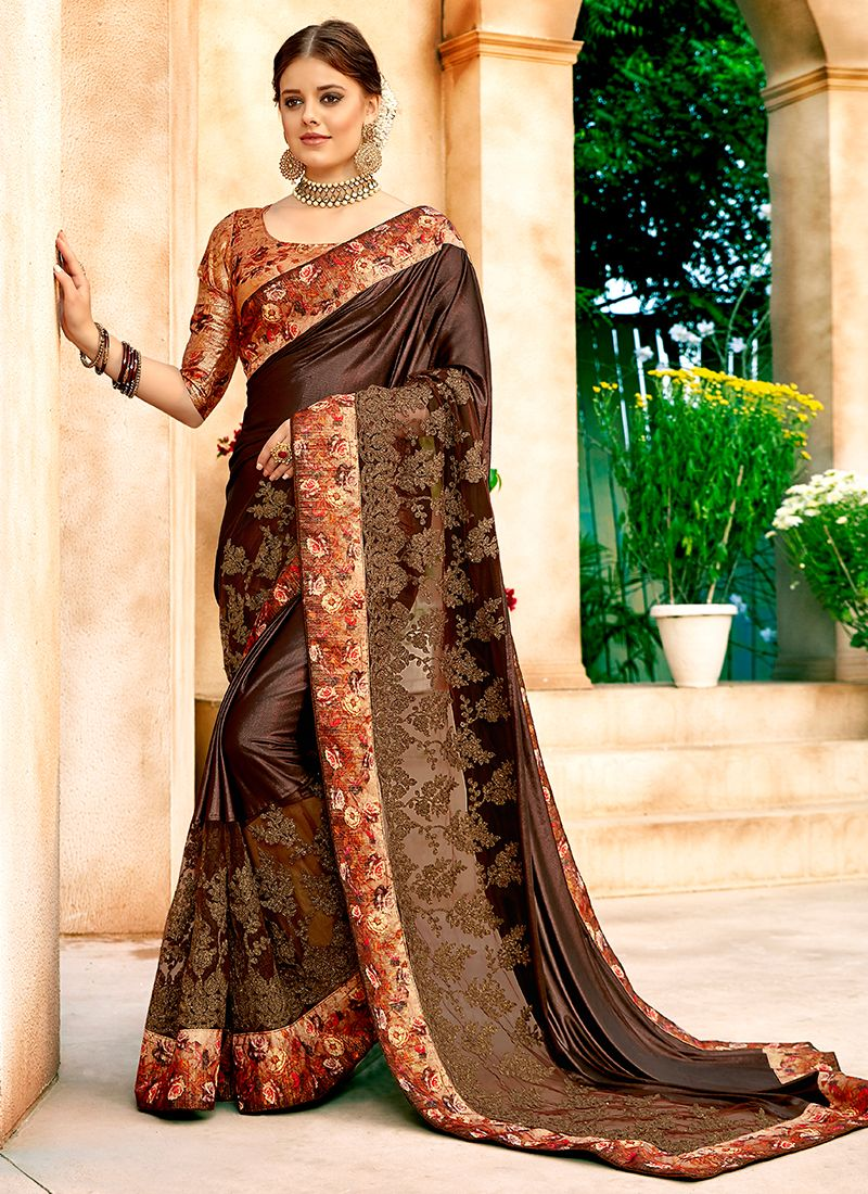 Enthralling Lycra Party Classic Designer Saree