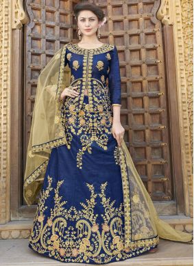 Entrancing Blue Trendy Lehenga Choli