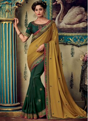 Epitome Embroidered Fancy Fabric Designer Saree