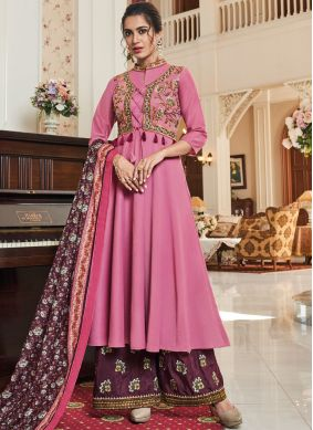 Epitome Pink Festival Readymade Suit