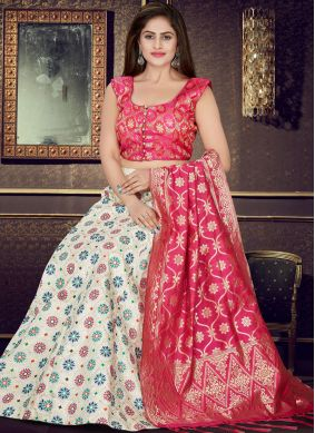 Exceptional Art Silk Readymade Lehenga Choli