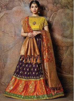 Exceptional Embroidered Silk Designer Lehenga Choli