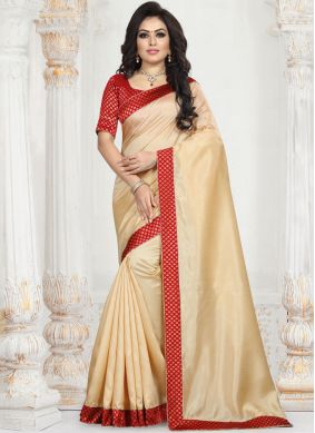 Exceptional Patch Border Art Silk Traditional Saree