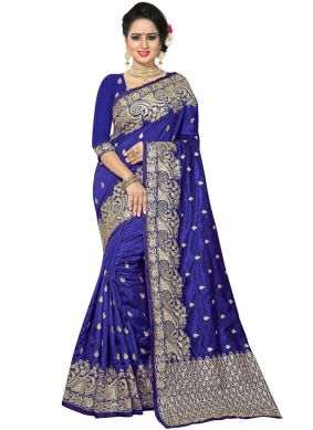 Exciting Embroidered Bridal Traditional Saree