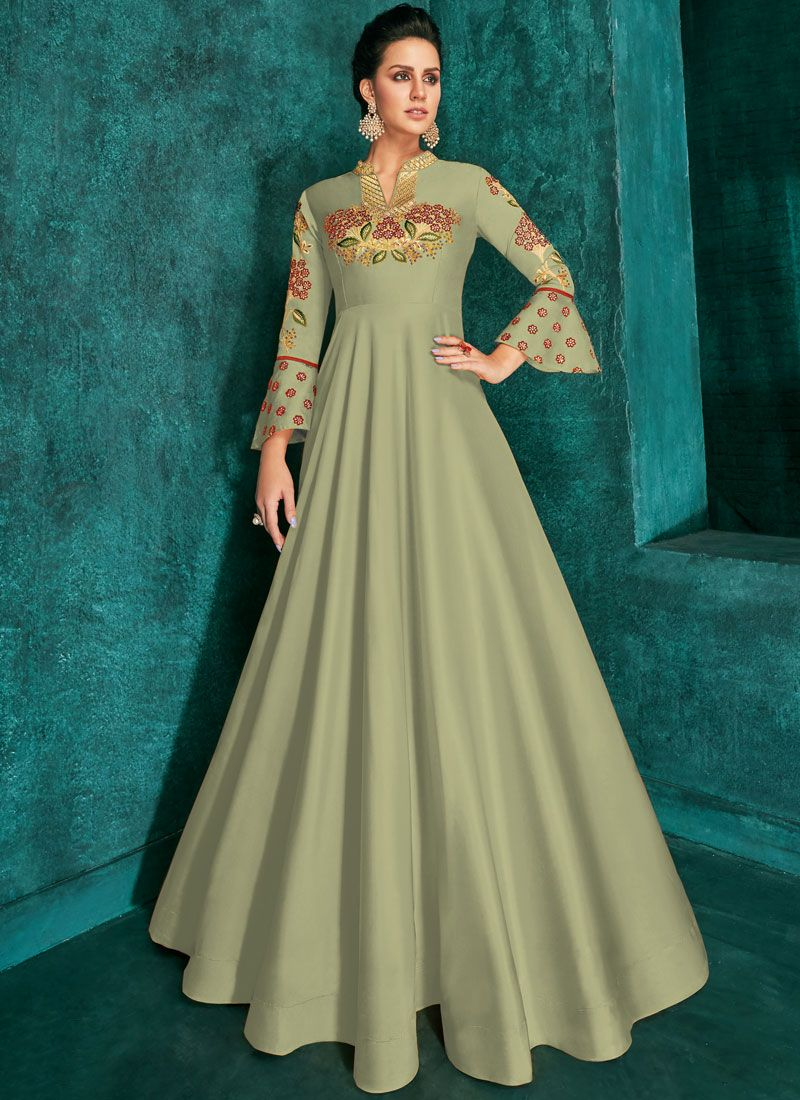 Exciting Embroidered Trendy Gown