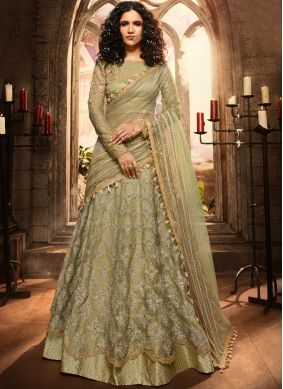Exuberant Sea Green Party A Line Lehenga Choli