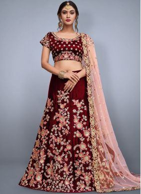 Eye-Catchy Maroon Lehenga Choli