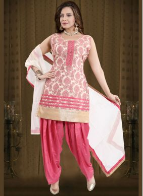 Fancy Banglori Silk Readymade Suit in Pink