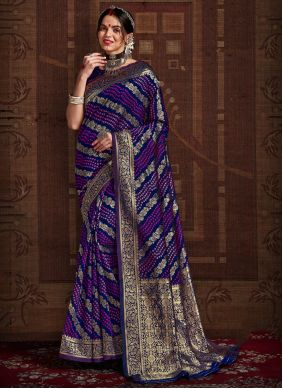 Fancy Blue Fancy Fabric Designer Traditional Saree