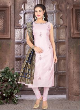 Pink Fancy Engagement Readymade Suit