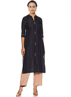 Fancy Fabric Abstract Print Multi Colour Party Wear Kurti