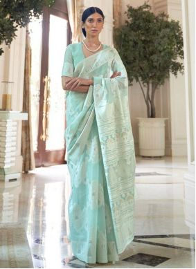 Fancy Fabric Festival Traditional Saree