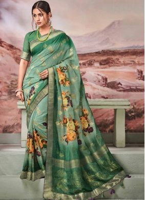 Fancy Fabric Green Fancy Designer Traditional Saree