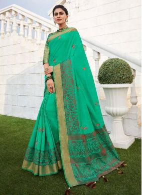 Fancy Fabric Green Traditional Saree