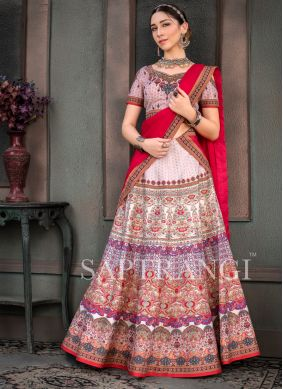 Fancy Fabric Multi Colour Lehenga Choli