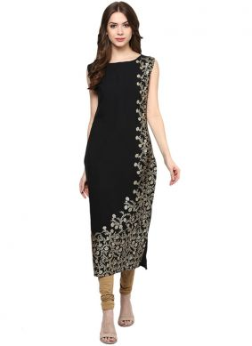 Fancy Faux Crepe Casual Kurti