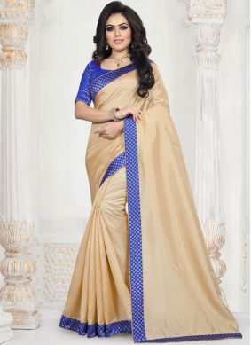 Fantastic Art Silk Patch Border Traditional Saree