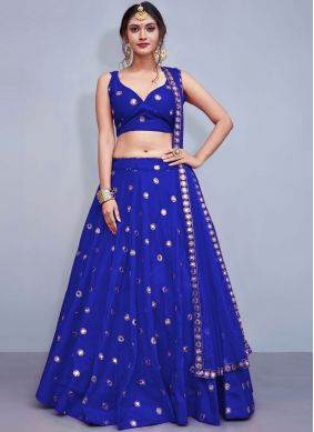 Fantastic Sequins Blue Readymade Lehenga Choli