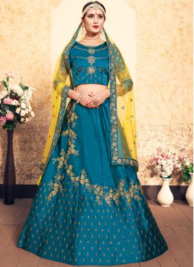 Fascinating Blue Swarovski Designer Lehenga Choli