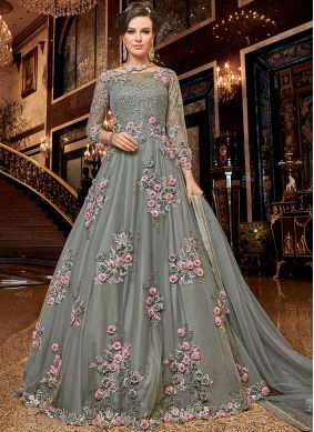 Fashionable Net Party Anarkali Salwar Suit