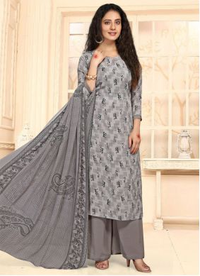 Faux Crepe Casual Palazzo Salwar Suit