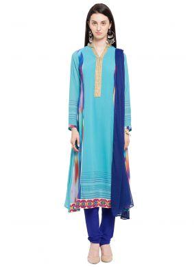 Faux Georgette Festival Readymade Anarkali Salwar Suit