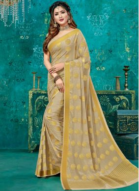 Fetching Beige Reception Designer Traditional Saree