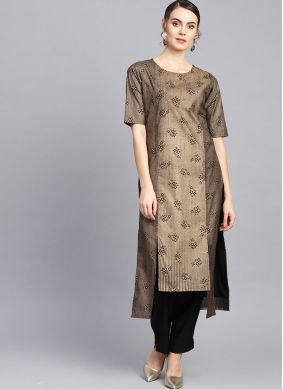 Fine Poly Silk Fancy Party Wear Kurti