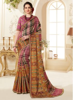 Flawless Printed Saree For Festival
