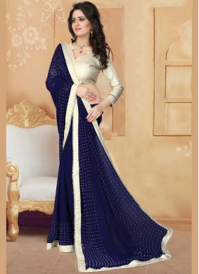 Genius Navy Blue Saree