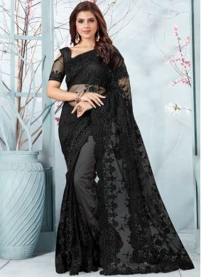 Genius Net Resham Designer Traditional Saree