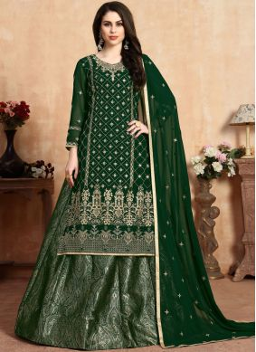 Georgette Embroidered Lehenga Choli