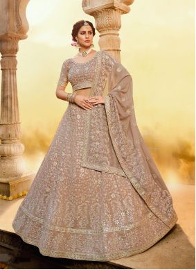 Georgette Embroidered Trendy Lehenga Choli