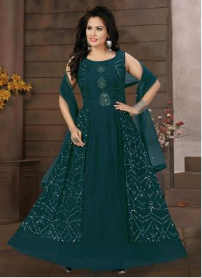 Georgette Festival Readymade Suit