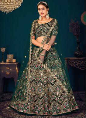 Georgette Green Bollywood Lehenga Choli