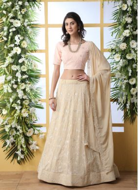 Georgette Party A Line Lehenga Choli