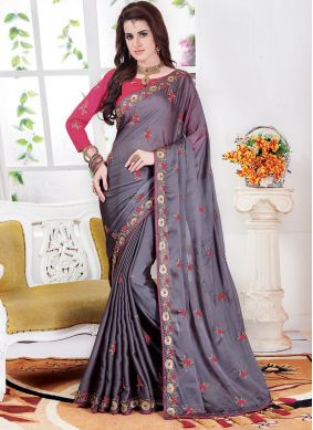 Glitzy Embroidered Sangeet Classic Saree