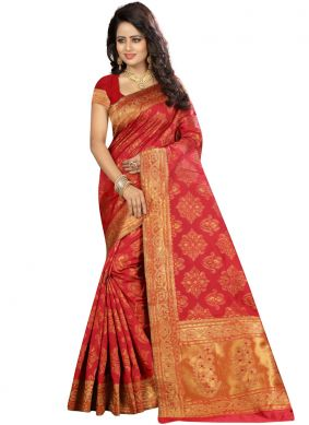Glossy Traditional Saree For Festival