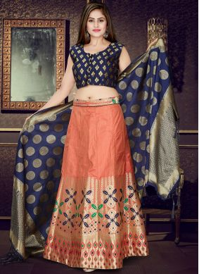 Glowing Art Silk Readymade Lehenga Choli